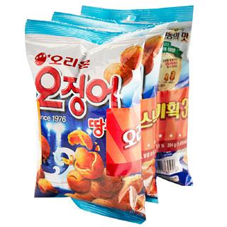 [전단상품]오리온 오징어 땅콩 기획, 294(98g x 3개)