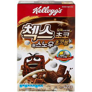 [전단상품]농심 켈로그 첵스초코 스노우 초코볼, 420g
