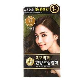 [전단상품]LG 리엔 흑모비책 염색 밝은갈색, 3회분