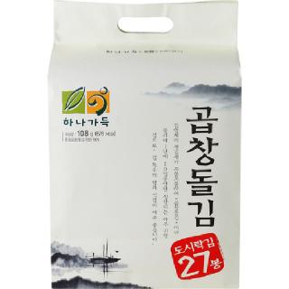 [전단상품]농협 하나가득 광천해저 곱창돌김(도시락김), 108g(4g x 27봉)