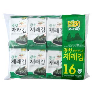 [전단상품]농협 하나가득 광천 올리브유로 구운 재래김, 64g(4g x 16봉)