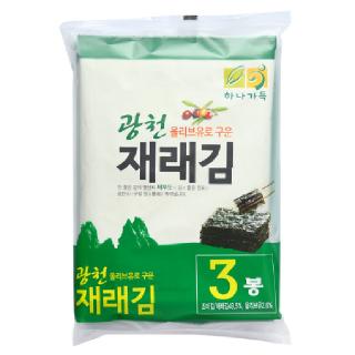 농협 하나가득 광천 올리브유로 구운 재래김, 60g(20g x 3봉)