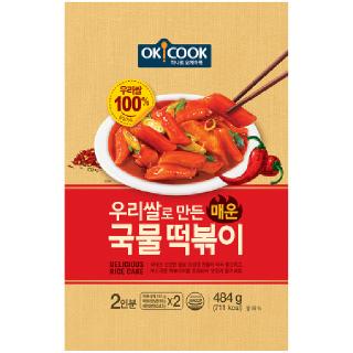 OKCOOK 우리쌀로 만든 매운 국물떡볶이, 484g(2인분)