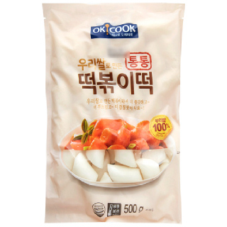 OKCOOK 우리쌀 통통 떡볶이떡,  500g