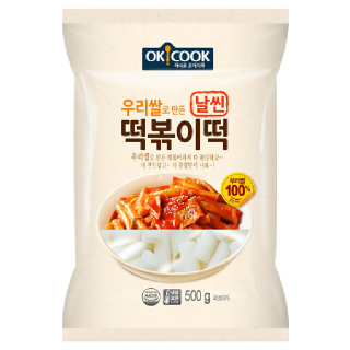 OKCOOK 우리쌀 날씬 떡볶이떡, 500g