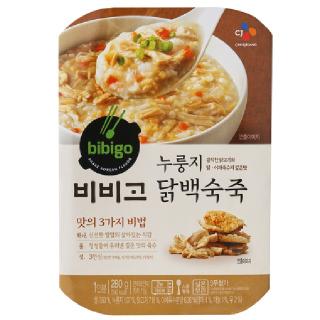 씨제이 비비고 누룽지 닭백숙죽, 280g(1인분)