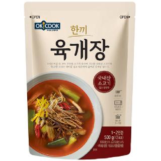 OKCOOK 한끼 육개장, 500g(1~2인분)