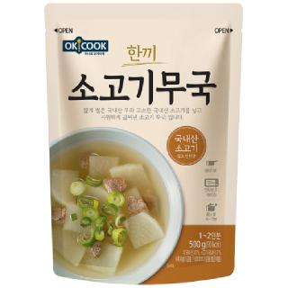OKCOOK 한끼 소고기무국,  500g(1~2인분)