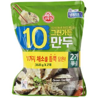 [전단상품]오뚜기 그린가든 만두, 360g x 2개