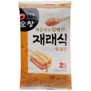 대상 청정원 순창 재래식 생된장 2단계 진한 맛, 500g/비닐
