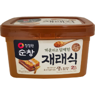 대상 청정원 순창 재래식 생(生) 된장 2단계 진한맛, 1kg