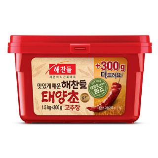씨제이 해찬들 태양초골드 고추장, 1.5kg + 300g