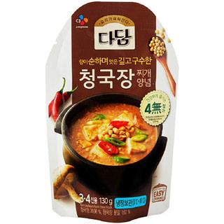 [전단상품]씨제이 다담 청국장찌개양념, 130g(3~4인분)