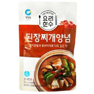 [전단상품]대상 청정원 요리한수 된장찌개양념, 150g(3~4인분)