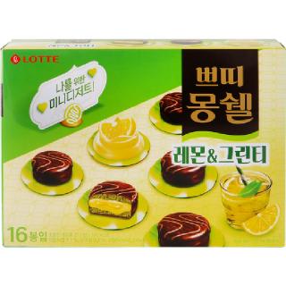 [전단상품]롯데 쁘띠몽쉘 레몬그린티, 272g(17g x 16봉)