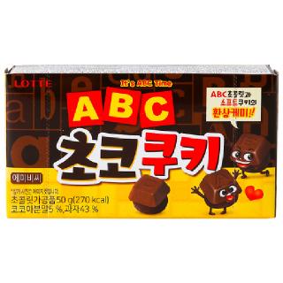 [전단상품]롯데 에이비씨 초코쿠키, 152g(38g x 4봉)