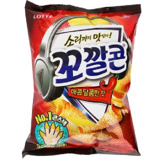 [전단상품]롯데 꼬깔콘 매콤달콤한맛, 120g