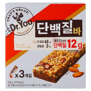 [전단상품]오리온 닥터유 단백질바, 150g(50g x 3봉지)