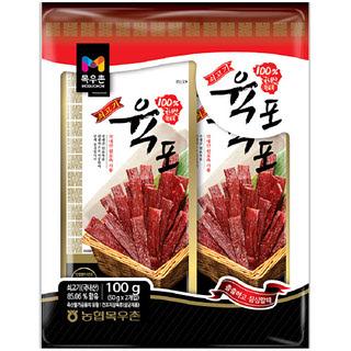 [전단상품]목우촌 쇠고기육포, 100g(50g*2개입)