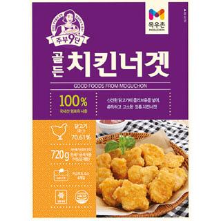 [전단상품]냉동 목우촌 주부9단 골든 치킨너겟, 720g