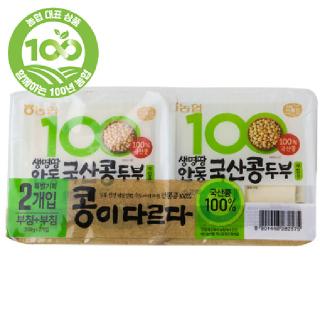 농협 아름찬 두부(부침용+부침용), 300g + 300g