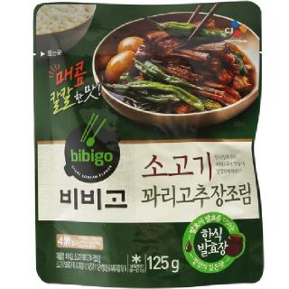 [전단상품]씨제이 비비고 소고기 꽈리고추 장조림 , 125g