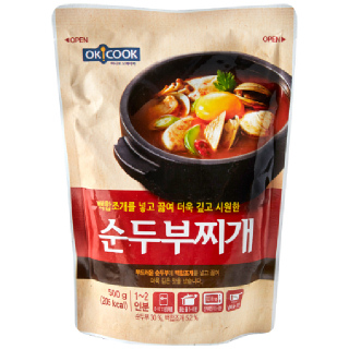 OKCOOK 순두부찌개, 500g(1~2인분)