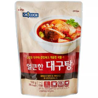 [전단상품]OKCOOK 얼큰한 대구탕, 500g(1~2인분)