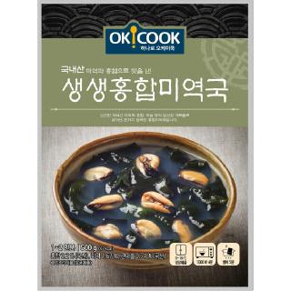 OKCOOK 생생 홍합미역국, 500g(1~2인분)