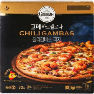 고메 바르셀로나 칠리감바스 피자 350g, 350g