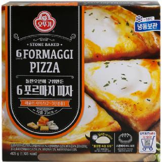 [전단상품]오뚜기 6포르마지 피자, 405g(2~3인분)
