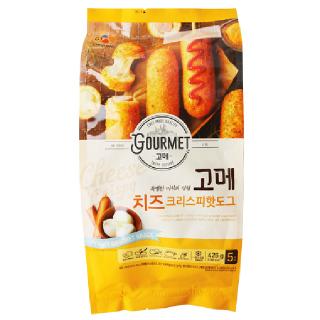 [전단상품]씨제이 고메 치즈 크리스피핫도그, 85g x 5개