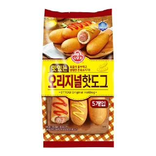 [전단상품]오뚜기 맛있는 오리지널 핫도그, 400g