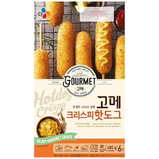[전단상품]씨제이 고메 크리스피 핫도그, 480g
