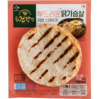 더건강한 부드러운 닭가슴살 직화스테이크 100g, 100g