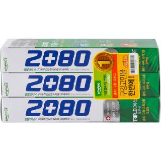 HANARO 2080 덴탈크리닉 트리플케어 알파, 130g x 3입