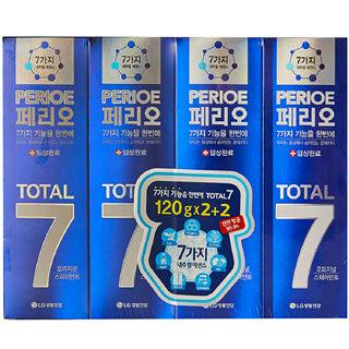 [전단상품]LG 페리오 토탈7 오리지널 어드밴스 치약, 120g x 4개