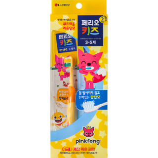 [전단상품]엘지 페리오 키즈 스텝2 핑크퐁 칫솔(3~5세), 2개