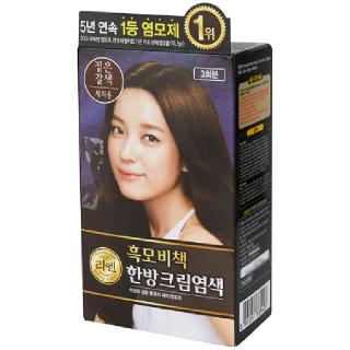 [전단상품]LG 리엔 흑모비책 한방크림염색 짙은갈색(새치용), 120g(3회분)