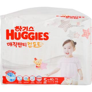 [전단상품]하기스 매직팬티 컴포트(여아용/5단계/특대형), 40매