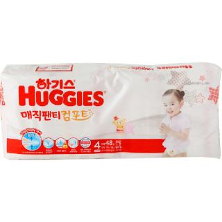 [전단상품]하기스 매직 컴포트 팬티형(여아용/4단계/대형), 48매