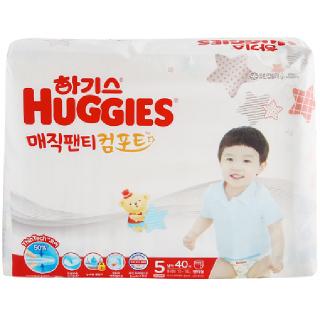 [전단상품]하기스 매직팬티 컴포트(남아용/5단계/특대형), 40매
