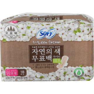 [전단상품]쏘피 유기농100% 순면커버 무표백 속커버 중형, 18개입