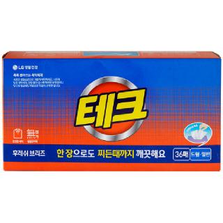 [전단상품]LG 테크 후레쉬 브리즈 뽑아쓰는 세탁세제, 36매
