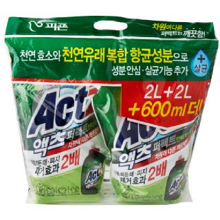 피죤 액츠 퍼펙트 안티박(일반/드럼겸용), 2.3L + 2.3L
