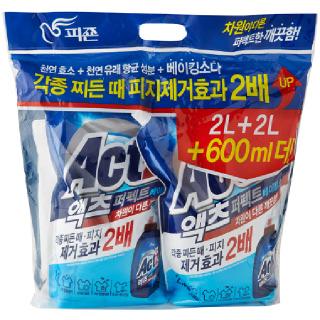 피죤 액츠 퍼펙트 베이킹소다(일반/드럼겸용), 2.3L + 2.3L