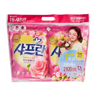 [전단상품]LG 샤프란 핑크 센세이션, 2100ml + 2100ml