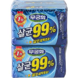 무궁화 살균99% 세탁비누, 230g x 4개