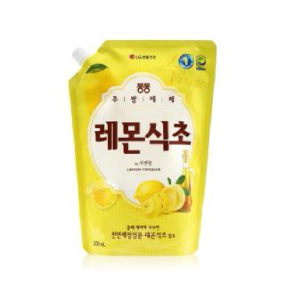 엘지 퐁퐁 주방세제 레몬식초 리필, 1.2L